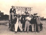 Harry Edmondwith friends on Christmas in Luanshya 1920's.jpg